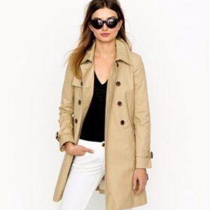 J. Crew Tan Beige Classic Button Trench Coat 10